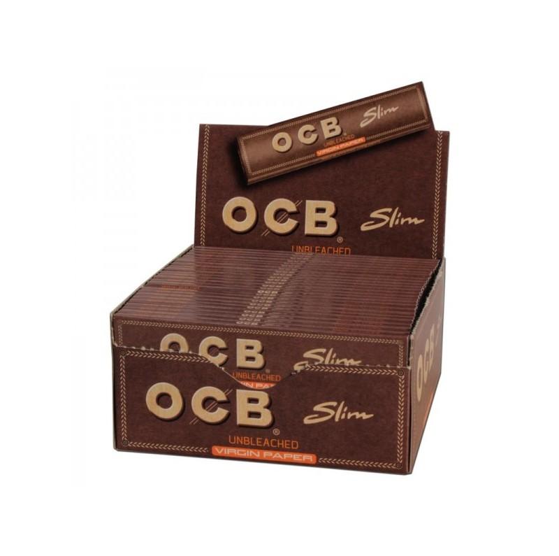Cartouche de Feuilles à Rouler OCB Slim non-blanchies
