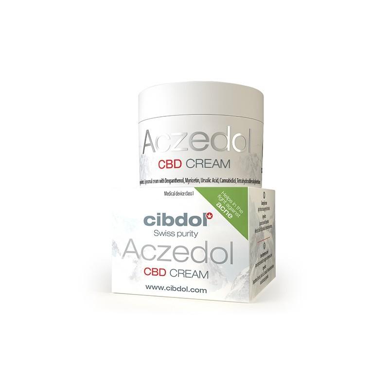 Créme CBD Aczedol (Aide à combattre l'acné) - Cibdol